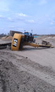 overturned equipment covered by Rental Equipment Protection from J.T. Bates Insurance Group